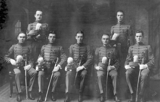 From Left to Right Back Row: William Seaton, Harry Eagle Front Row: Richard Huebner, William Simpson, Alfred Hummel, Robert Horlacher, Charles Felin