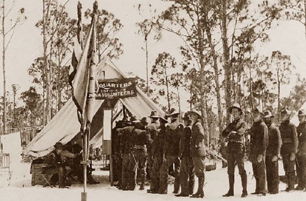 Members of the 157th Infantry Regiment